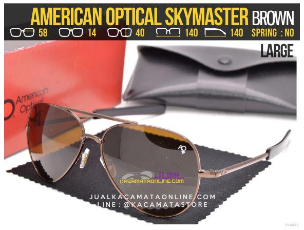 Model Kacamata Pilot American Optical Skymaster Large Brown