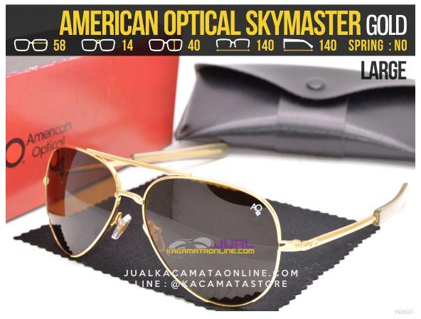 Harga Kacamata Pilot American Optical Skymaster Large Gold