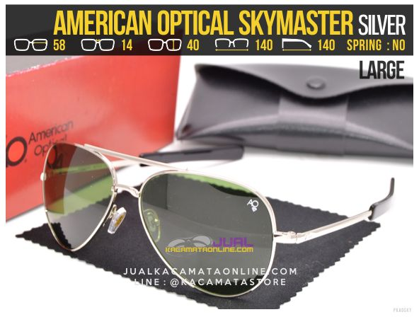 Jual Kacamata Pilot American Optical Skymaster Large Silver