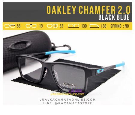Model Kacamata Pria Oakley Chamfer 2.0 Black Blue