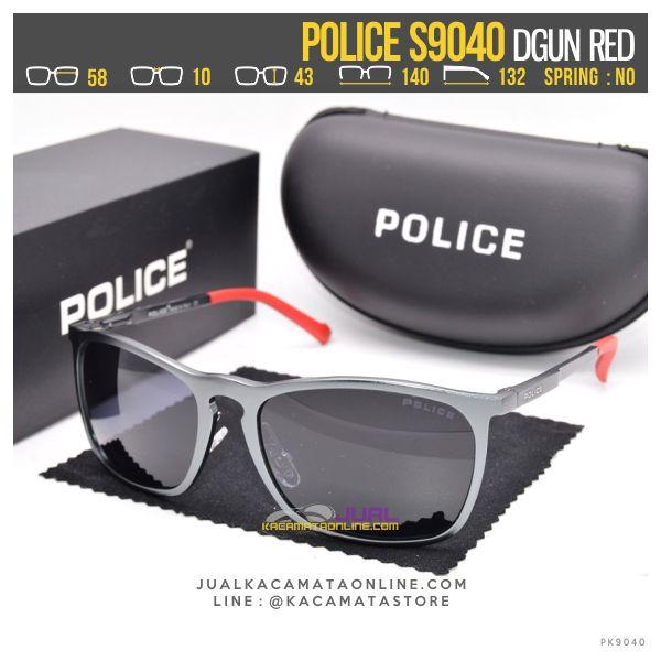 Trend Kacamata Pria Police S9040 Dgun Red