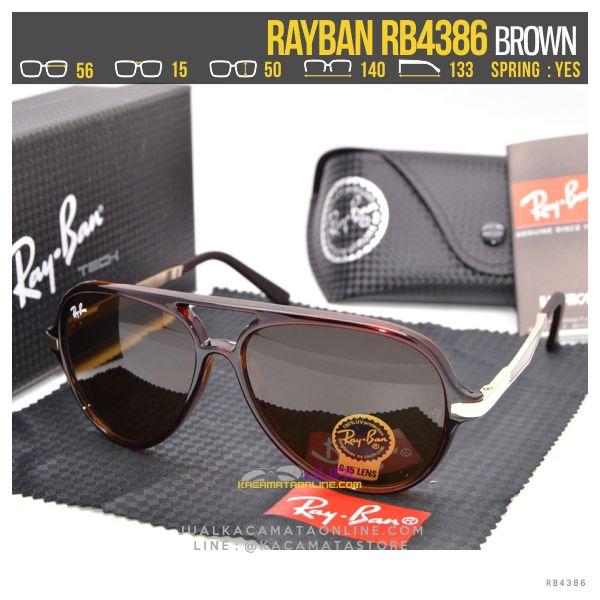 Model Kacamata Retro Rayban Rb4386 Brown