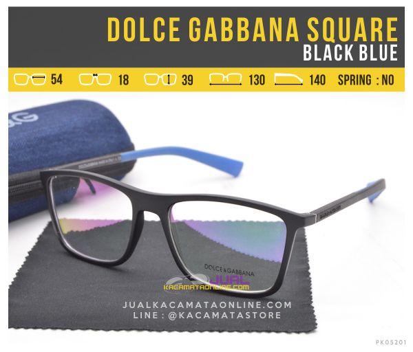 Harga Kacamata Trendy Terbaru Dolce Gabbana Square Black Blue