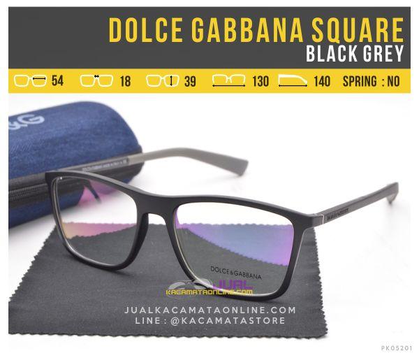 Gambar Kacamata Trendy Terbaru Dolce Gabbana Square Black Grey