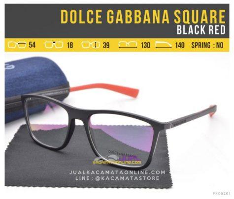 Model Kacamata Trendy Terbaru Dolce Gabbana Square Black Red