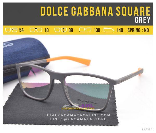 Grosir Kacamata Trendy Terbaru Dolce Gabbana Square Grey