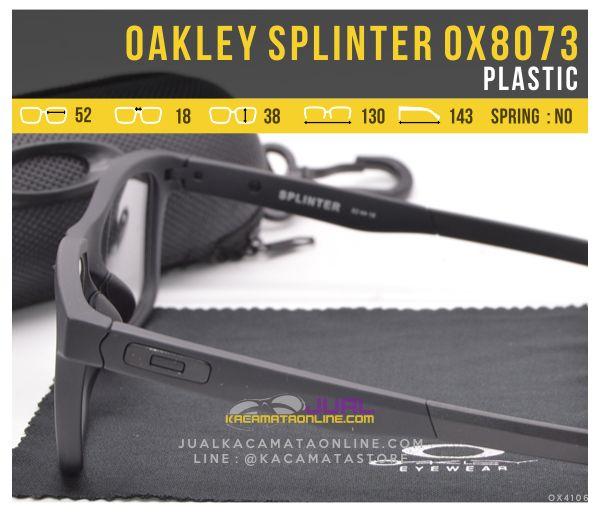 Jual Kacamata Untuk Pria Oakley Splinter OX8073 Kacamata Murah