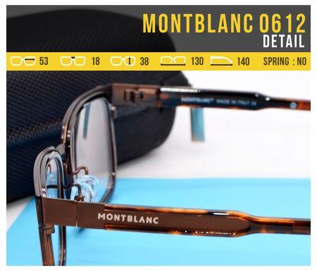 Kacamata Model Terbaru MontBlanc 0612 Detail