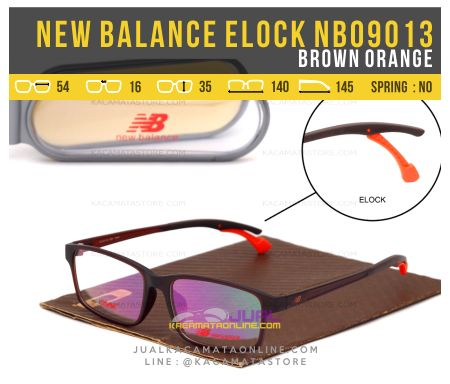 Gambar Kacamata Minus Model Terbaru New Balance NB09013 Brown Orange