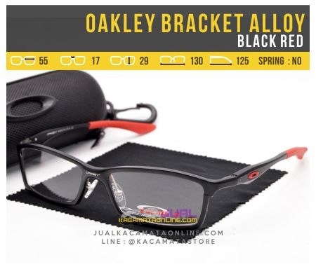 Kacamata Murah Oakley Bracket Alloy Black Red