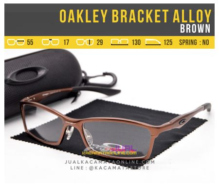 Jual Kacamata Baca Oakley Bracket Alloy Brown