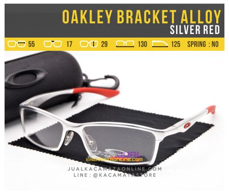 Kacamata Pria Oakley Bracket Alloy Silver Red