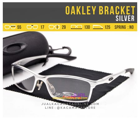 Model Kacamata Minus Oakley Bracket Alloy Silver
