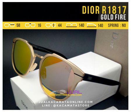 Kacamata Wanita Model Terbaru Dior 1817 Gold Fire