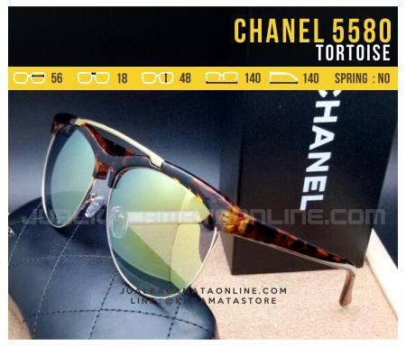 Model Kacamata Cewek Terbaru Chanel Most Turn Tortoise