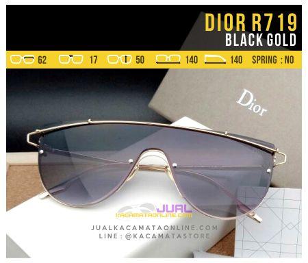 Jual Kacamata Fashion Terbaru Dior 719 Black Gold