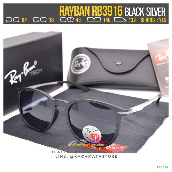 Model Kacamata Fashion Terbaru Rayban Rb3916 Black Silver