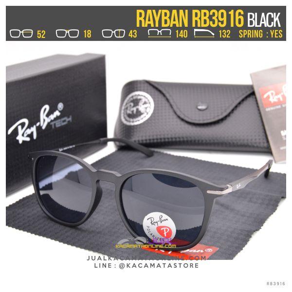 gambar Kacamata Fashion Terbaru Rayban Rb3916 Black