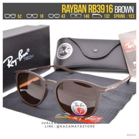 Jual Kacamata Fashion Terbaru Rayban Rb3916 Brown