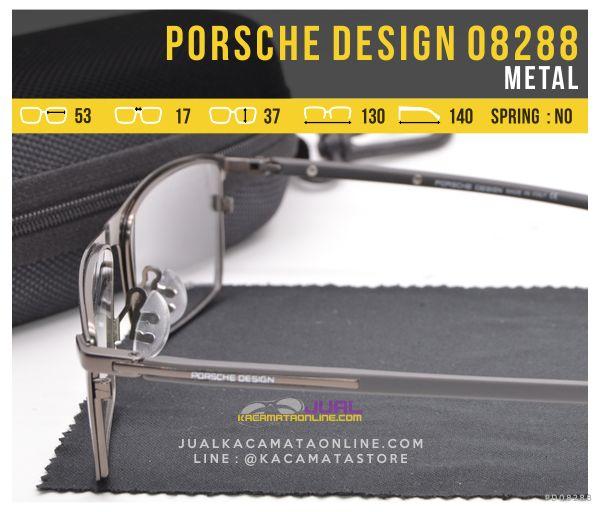 Model Kacamata Full Frame Porsche Design 08288 Bahan Metal