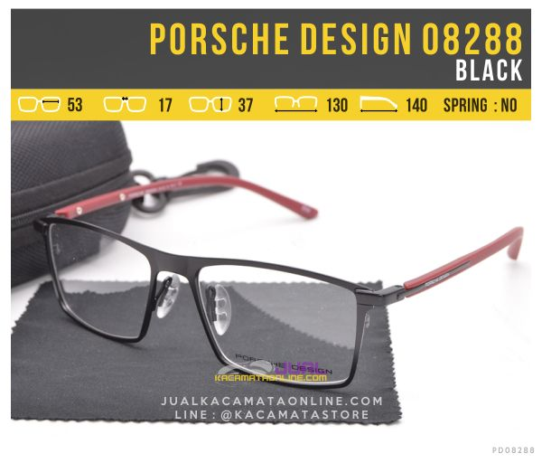 Grosir Kacamata Full Frame Porsche Design 08288 Black
