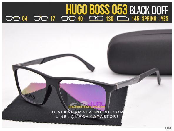 harga Kacamata Minus Terbaru Hugo Boss 053 Black Doff