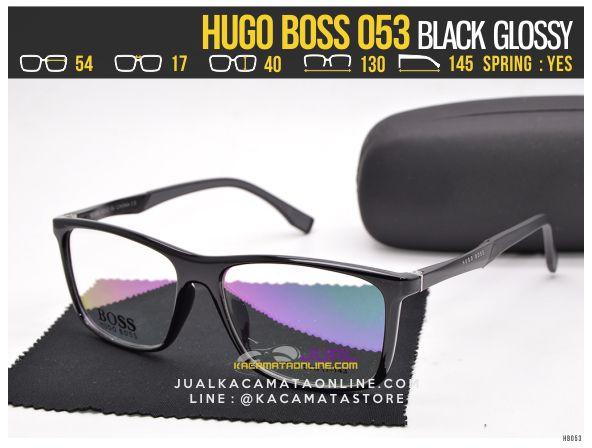 Gambar Kacamata Minus Terbaru Hugo Boss 053 Black Glossy