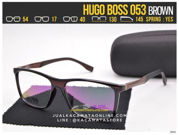 Jual Kacamata Minus Terbaru Hugo Boss 053 Brown