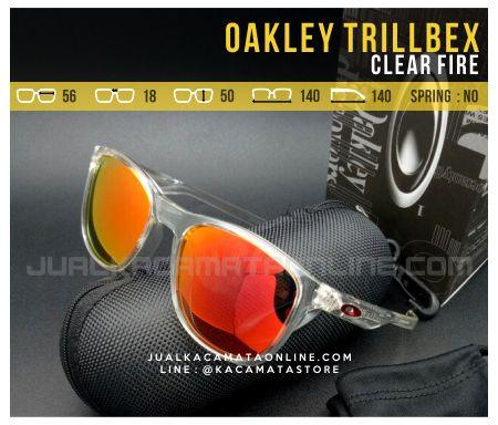 Harga Kacamata Oakley Trillbex Clear Fire
