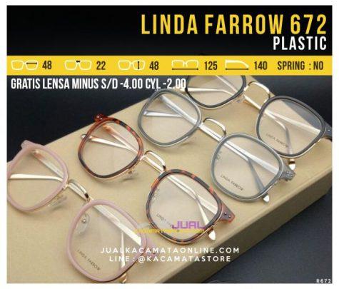 Model Kacamata Optik Terbaru Linda Farrow 627 Plastic