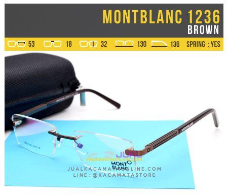 gambar Kacamata Baca Terbaru MontBlanc 1236 Brown