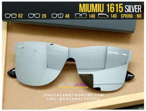 Model Kacamata Cewek Terbaru MiuMiu 1615 Silver