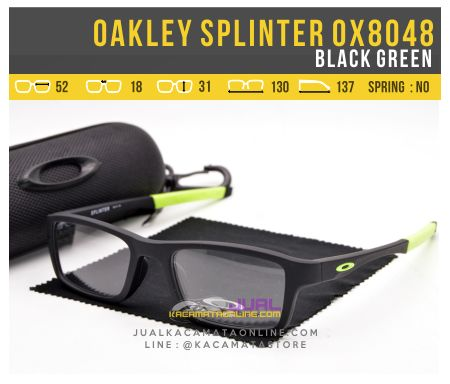 Jual Kacamata Minus Pria Oakley Splinter OX8048 Black Green