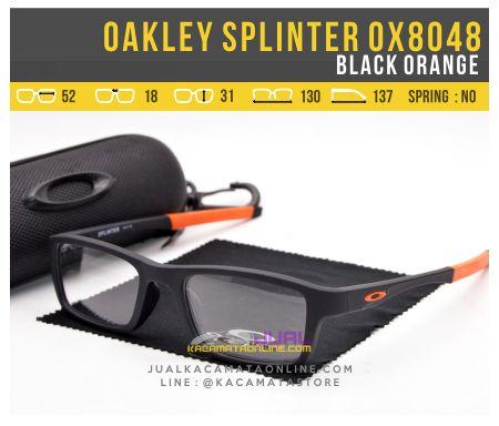Trend Kacamata Minus Pria Oakley Splinter OX8048 Black Orange