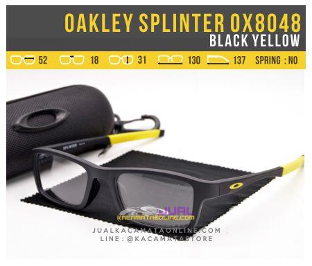Harga Kacamata Minus Pria Oakley Splinter OX8048 Black Yellow