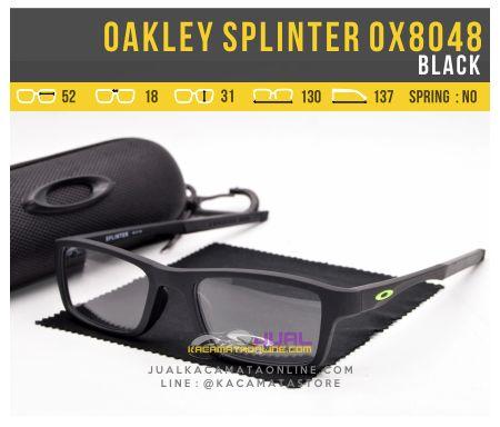 Model Kacamata Minus Pria Oakley Splinter OX8048 Black