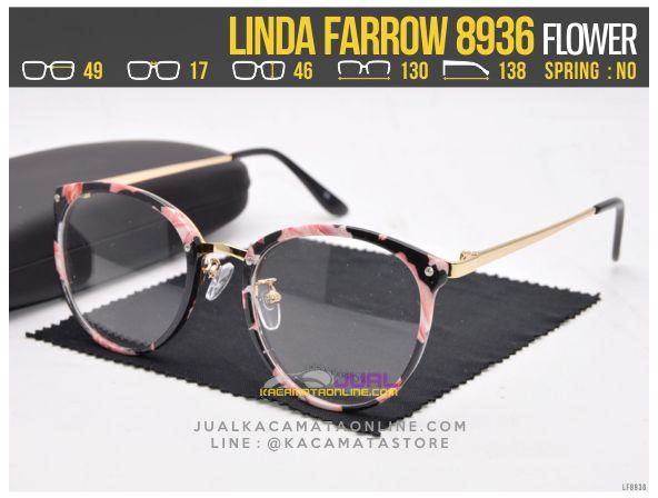 Trend Kacamata Minus Terbaru Linda Farrow 8936 Flower