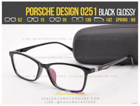 Harga Kacamata Minus Terbaru Porsche Design 0251 Black Glossy
