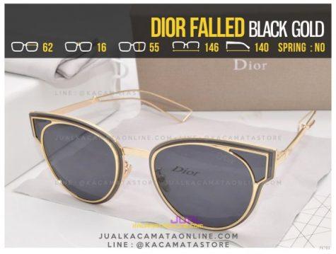 Jual Kacamata Fashion Terbaru Dior Falled Black Gold