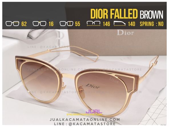 Gambar Kacamata Fashion Terbaru Dior Falled Brown