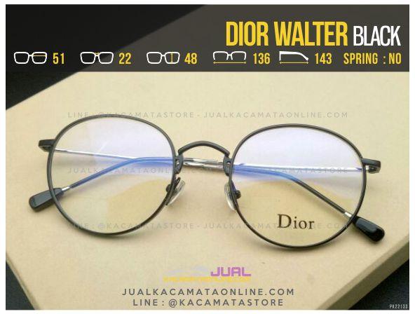 Gambar Frame Kacamata Minus Dior Walter Black
