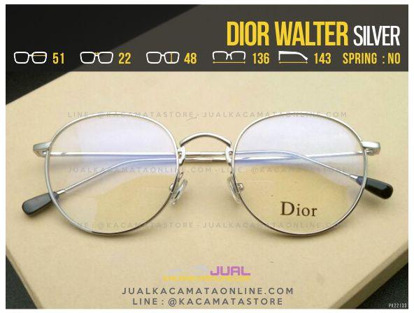 Jual Frame Kacamata Minus Dior Walter Silver