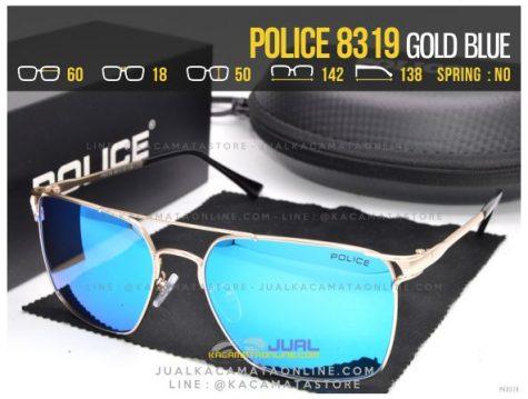 Grosir Kacamata Gaya Police 8319 Gold Blue