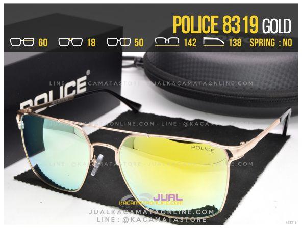 Jual Kacamata Gaya Police 8319 Gold