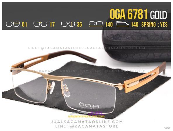 Model Kacamata Half Frame Oga 6781 Gold