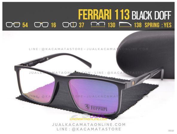 Trend Kacamata Pria Ferrari 113 Black Doff