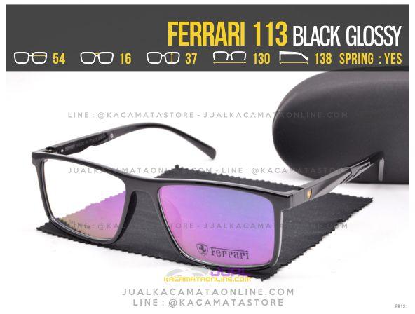 Grosir Kacamata Pria Ferrari 113 Black Glossy