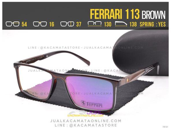 Gambar Kacamata Pria Ferrari 113 Brown