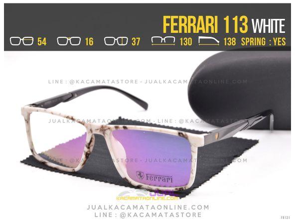 Model Kacamata Pria Ferrari 113 White
