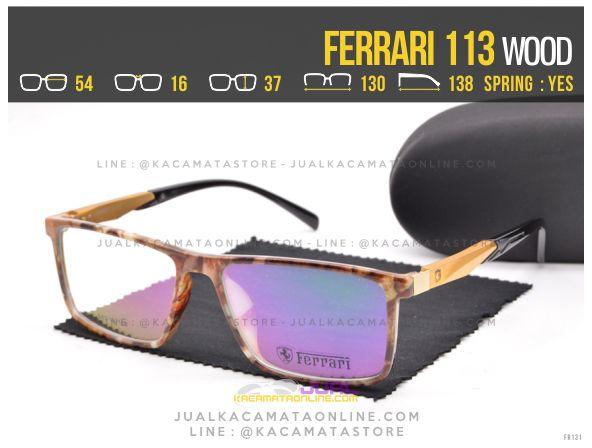 Jual Kacamata Pria Ferrari 113 Wood